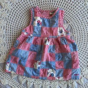Oshkosh patchwork dress 18 months